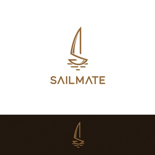 Sailing design with the title 'Modern minimal and sophisticated logo for fashion sail bags.'