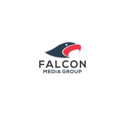 Falcon brand with the title 'Falcon Media Group logo'