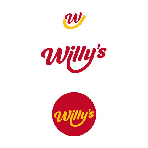 Fast food design with the title 'Willy's'