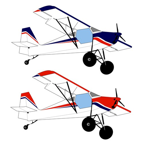 Scheme design with the title 'Airplane paint scheme'