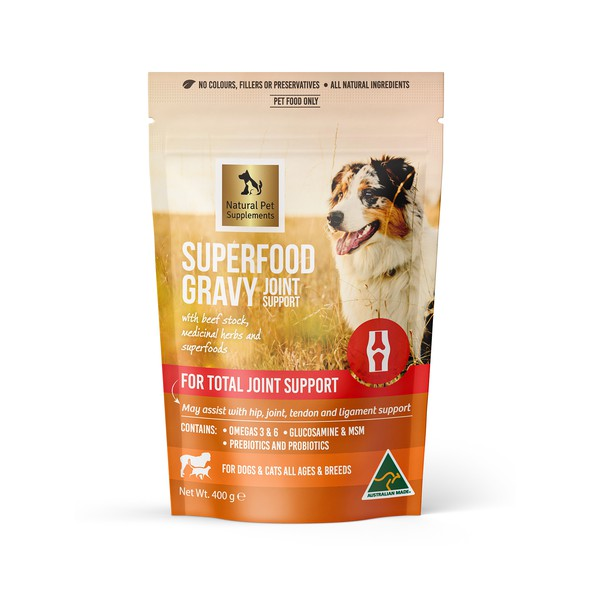 Pet packaging with the title 'Natural Pet supplements '