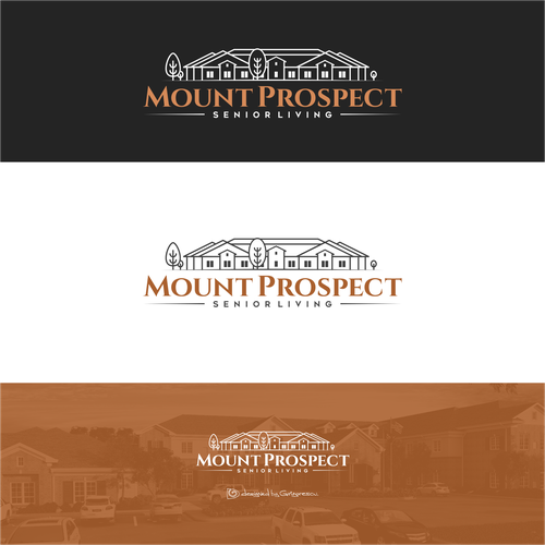 Copper design with the title 'Mount Prospect Senior Living'