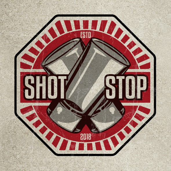 Street sign logo with the title 'Logo for Shot Bar'