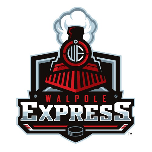 Hockey puck logo with the title 'Walpole Express'