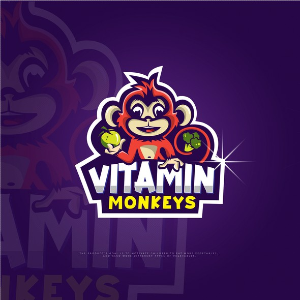 Vitamin design with the title 'Monkey character'
