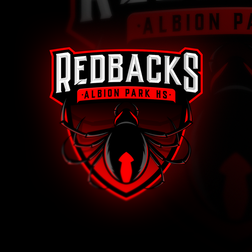 Spider logo with the title 'Redbacks sports logo'