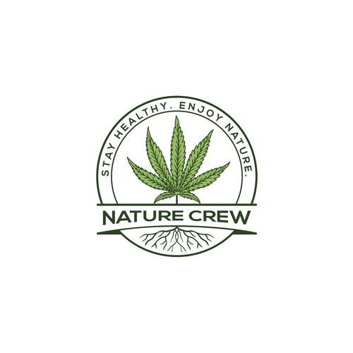 Tree of life logo with the title 'nature crew logo concept'