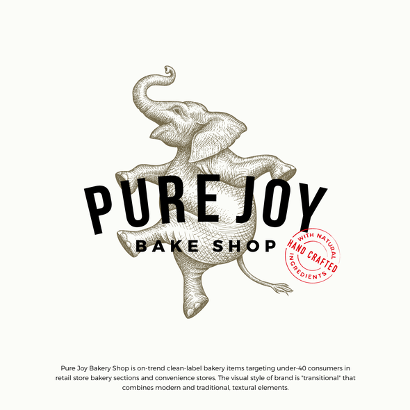 Delight logo with the title 'Pure Joy Bake Shop logo update'