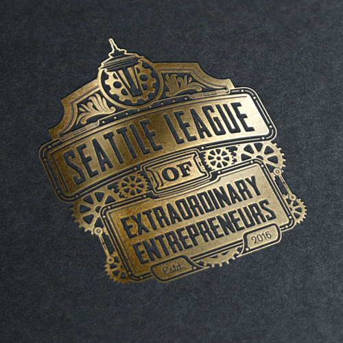 Steampunk logo with the title 'steampunk logo'