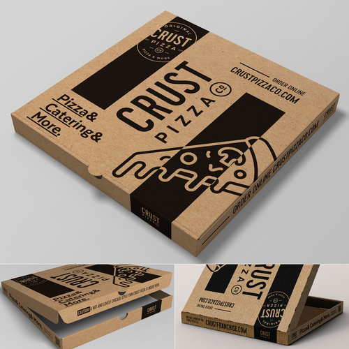 Pizza packaging with the title 'Cardbox pizza package'