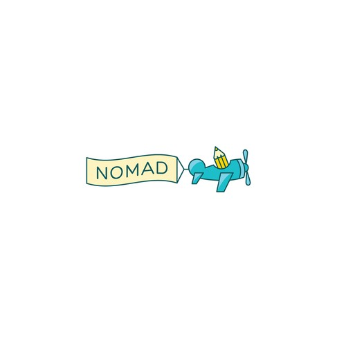 Nomad logo with the title 'adventurous school logo'