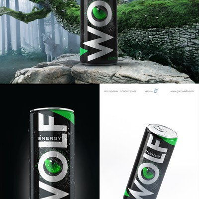 Wolf Energy, energy drink can design