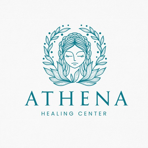 Hair extension logo with the title 'Athena'