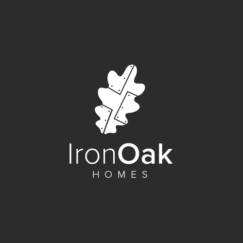 Iron design with the title 'Iron Oak Homes'