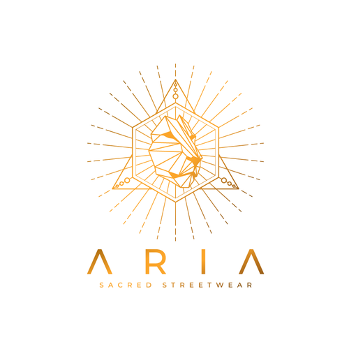 Lion design with the title 'Aria Sacred Streetwear'