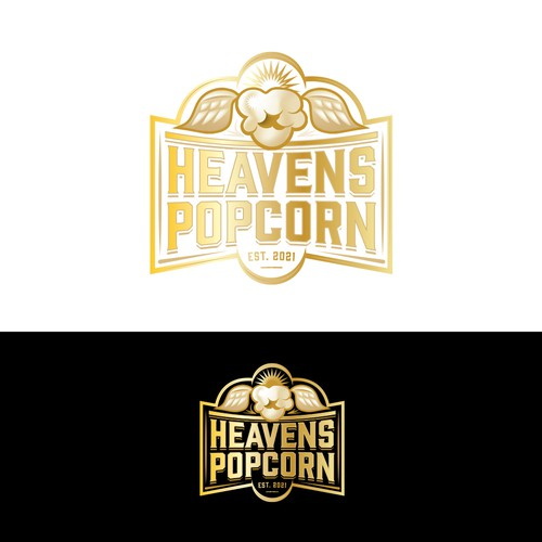 Popcorn logo with the title 'Proposed logo'