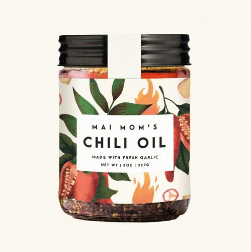 Chili design with the title 'Chili label proposal 🌶'