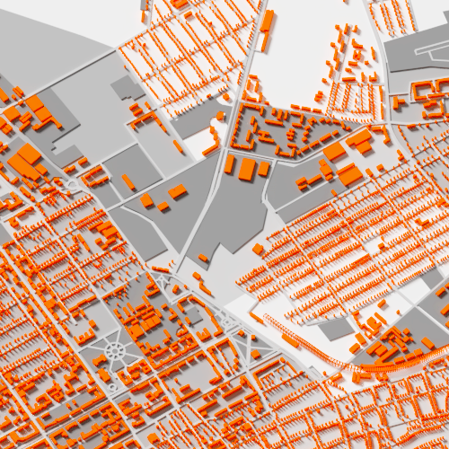 Town illustration with the title '3D map'