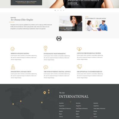 Dating website concept design