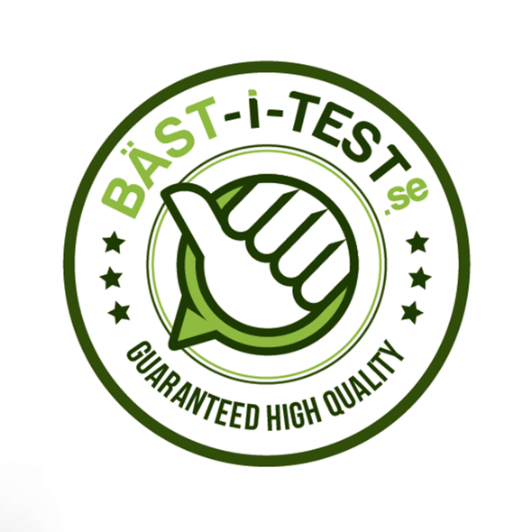 Thumbs up design with the title 'BÄST-i-TEST.se needs a new logo'