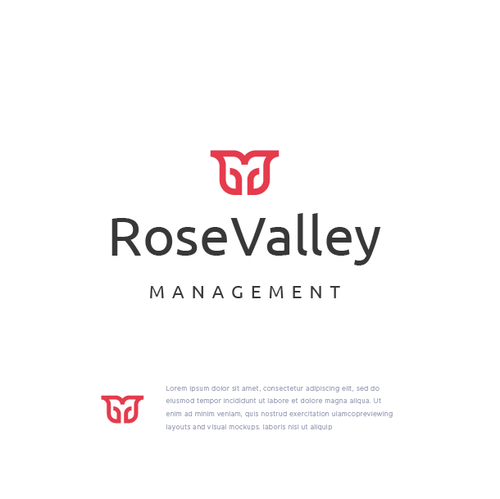 Feminine design with the title 'RoseValley Management'