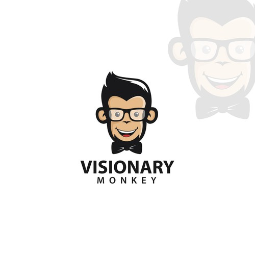 Visionary logo with the title 'Visionary Monkey'