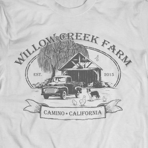 Agriculture t-shirt with the title 'Willow Creek Farm T Shirt'