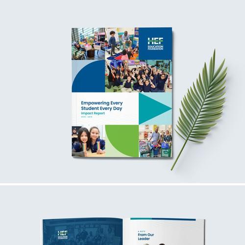 Annual report design with the title 'Annual Report Design'