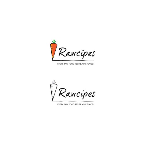 Carrot logo with the title 'New logo wanted for Rawcipes'