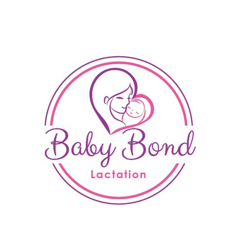 Newborn design with the title 'Mom and baby'