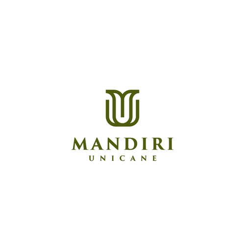 Home furnishing logo with the title 'initials M+U'