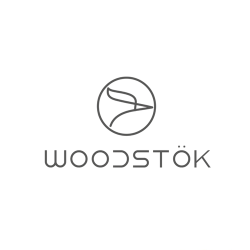 Woodpecker logo with the title 'Logo concept for hand crafted wood accessories and apparel company.'