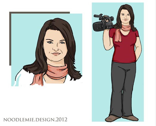 Blogger design with the title 'Help a new blogger with a classy illustration!'