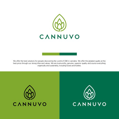 Hemp oil logo with the title 'Cannuvo logo'