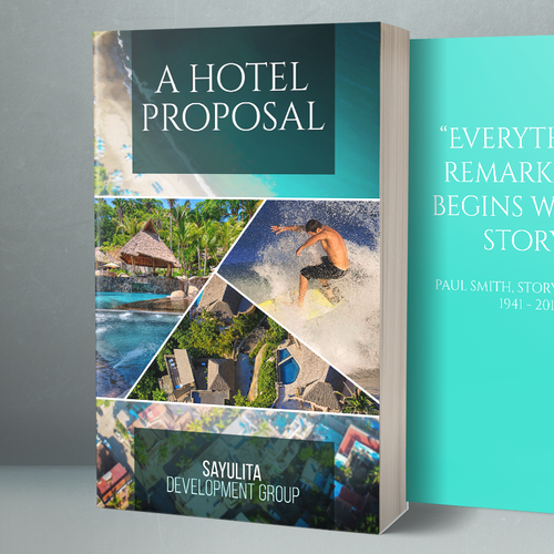 Proposal design with the title 'eBook Cover'