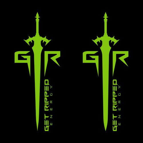 Sharp design with the title 'Logo design for Get Ripped Energy'