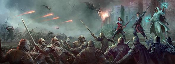 Fantasy artwork with the title 'war artwork'
