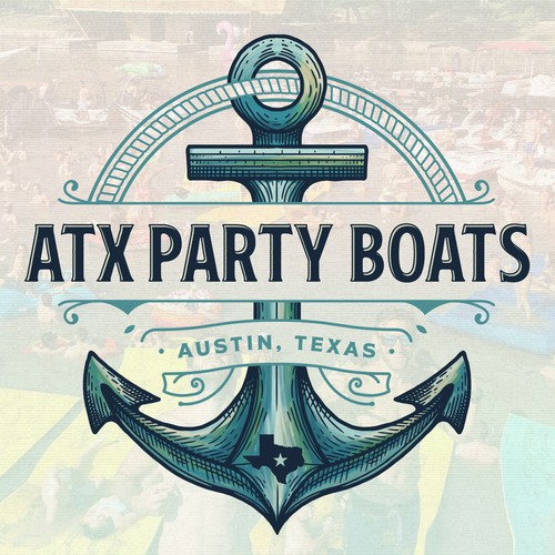 Party logo with the title 'ATX Party Boats'