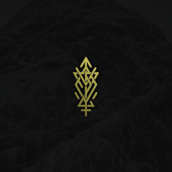 Nordic design with the title 'Norse/Viking Runes Monogram'