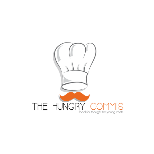 Hungry logo with the title 'Logo for a Website that trains young  chefs.'
