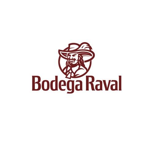 Spanish logo with the title 'Bodega Raval Logo'