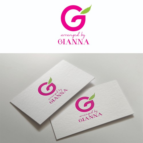 Florist logo with the title 'Gianna'
