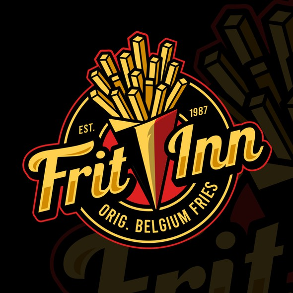 Belgium logo with the title 'FRIT INN'