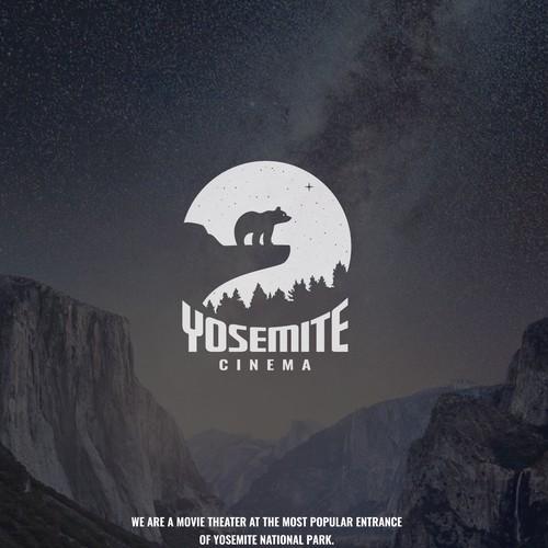 Cinema design with the title 'Yosemite Cinema - Logo'