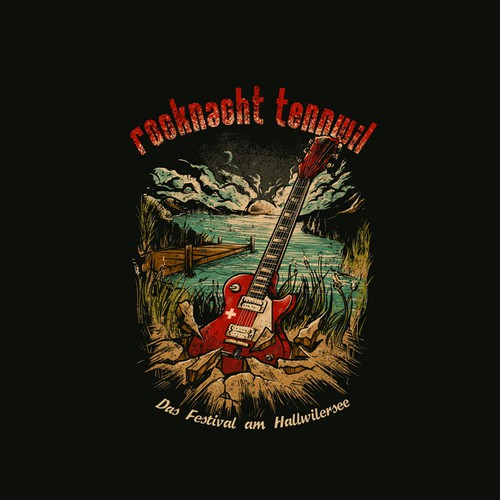 Band t-shirt with the title 'rocknacht tenwill'