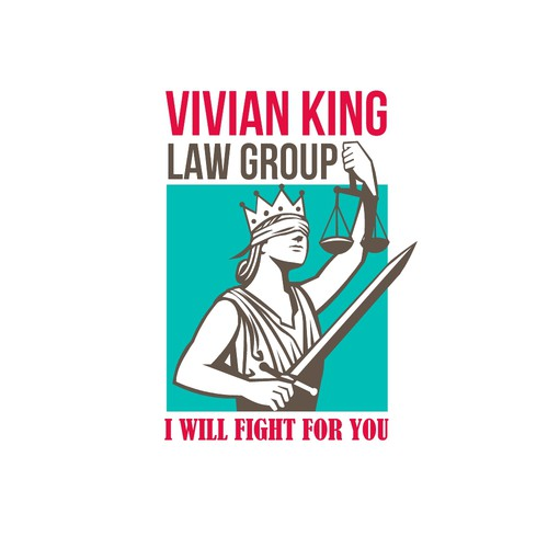 Measurement logo with the title 'Vivian King Law Group Logo'