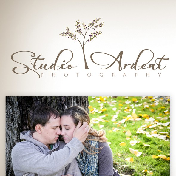 Olive tree design with the title 'Studio Ardent Photography needs a new logo'