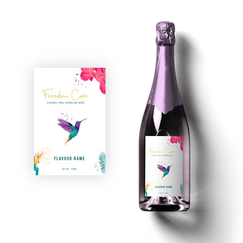 Refreshing design with the title 'Wine Label Design'