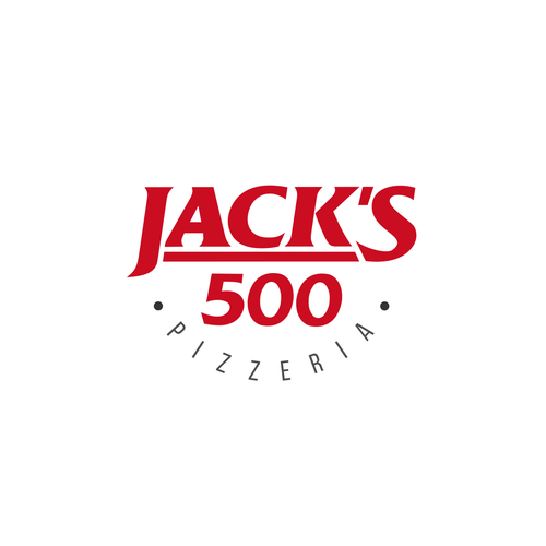 Pizza logo with the title 'Jack's 500 Pizzeria'