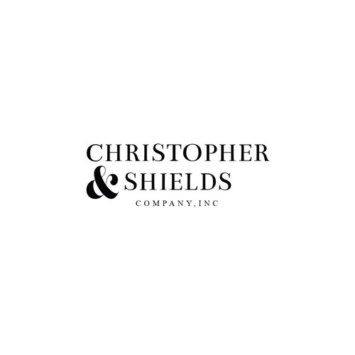 Interior design logo with the title 'Christopher&Shields, company INC'